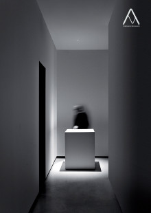 """Nulla is an extreme work on subtraction.<br /> The light is investigated and presented in its pure physical aspect. The research into a """"light without a source"""" drove me to consider the realization of a project which is invisible, magic and illusive. A very simple idea: a hole in the ceiling.<br /> A 18 mm hole only, a special optical system and the LED technology make a wonderful light on the surface. Deep and sensual light.<br /> Compasso d'Oro ADI 2014."""